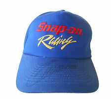 SNAP ON RACING Hat Cap AUTOGRAPHED Blue  FREE SHIPPING