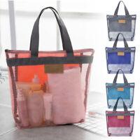 Travel Large Cosmetic Makeup Bag Mesh Toiletry Tote Wash Organizer Portable Bags