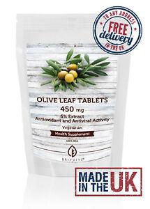 Olive Leaf 450mg Tablets Antioxid Antntiviral ✔Made in UK