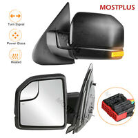 LH+RH Set Power Heated w/ LED Signal Towing Mirrors For 03-06 Ford Expedition