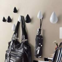Water Drop Wall Hanger Coat Hook Bathroom Holder Decor Hooks Creative Resin