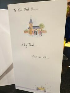Thank you for being my Best Man card. Wedding.  New