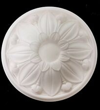Sunflower plaster ceiling rose. 410mm wide. Handmade in the UK, CP6