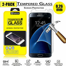 ( 2 Pack ) HD Clear Tempered Glass Film Screen Protector for Samsung Galaxy S7