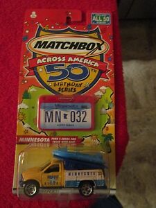 Matchbox Across America 50th Birthday Series Minnesota Ford F-Series Fire Truck