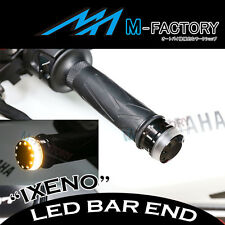 For FZ1 Fazer S 1000 01-15 Black IXENO Billet Bar End Amber Indicator LED Light
