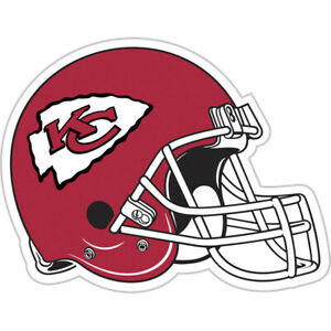 "Kansas City Chiefs  NFL 12""  Car Magnet Helmet Design"