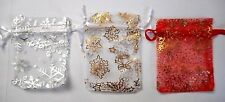 Christmas snowflakes bags Organza bag for weddings xmas favours gifts jewellery