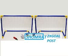 2x Goal Posts Sets for Kids Childs Large Football Soccer Outdoor Garden Net Ball