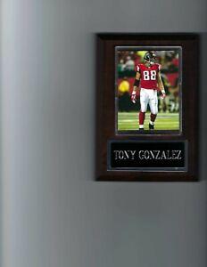 TONY GONZALEZ PLAQUE ATLANTA FALCONS FOOTBALL NFL