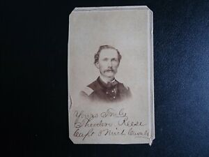 Original Civil War Soldier CDV Photograph SIGNED - THEODORE REESE CAPT. MICHIGAN