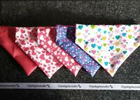 💘 Valentines Slide on Dog/Cat Bandana/Neckerchief 💘