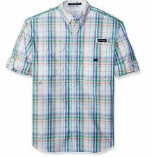 Columbia Men's Super Bonehead Classic Long Sleeve Shirt, Harbor Blue Plaid, XS
