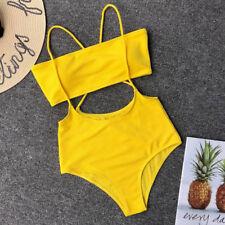 2PCS Sexy Women Swimwear Bandeau Swimsuit Bikini Bathingsuit Beachwear Bandage