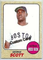 GEORGE SCOTT BOSTON RED SOX 1968 STYLE CUSTOM MADE BASEBALL CARD BLANK BACK