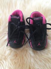 NIKE AIR JORDAN BABY GIRL'S BLACK & PINK SHOES, SIZE 2c