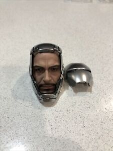 HOT TOYS IRON MAN MMS431-D20 Mark II DIECAST 1/6 Scale Head Sculpt & Helmet