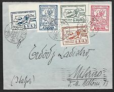 Italy and Area covers 1949 Local stamps cancelled UZOO to Milano