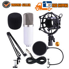 Pro Studio Kit Vocal Condenser Microphone+Shock Mount+Arm Stand+Pop Filter HOT