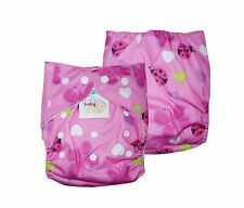 NEW! BABY CLOTH DIAPER (PINK BUG, ONE SIZE FITS ALL)