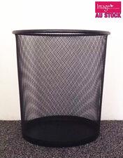 Large Metal Mesh Tidy Waste Paper Bin Rubbish Trash Basket Cleaning 5001