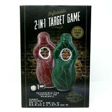 Wembley Inflatable 2-in-1 Reversible Target Game ~ Football or Baseball ~ NEW!