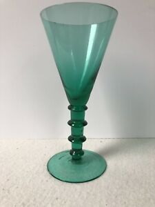 Antique Georgian Large Dark Green Drinking Glass