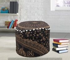 Indian Large Ottomans Footstools Cover Bohemian Handmade Pouf Cover Home Decor