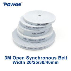 White PU arc HTD 3M Open Synchronous Belt Width 20/25/30/40mm Polyurethane steel