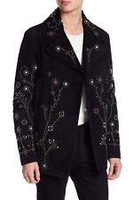 $13K Valentino Sheepskin Leather Jacket Studded Peacoat Men's Coat US 38 EU 48