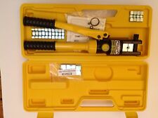 Heavy Duty Hydraulic Swaging Tool for S/S Wire Crimping + Hardened Steel Dies