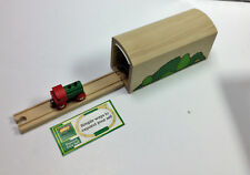 BRIO Wooden Railway Tall Tunnel with Track and Engine 33475 RARE NIB