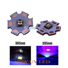 5050 10 Вт 365 нм 385 нм 395 Нм 405 нм 4 чип ультрафиолетовый светодиод фиолетовый свет с 20 мм медная печатная плата