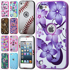 For iPod Touch 5 5th Gen IMPACT Verge HYBRID Case Skin Phone Cover +Screen Guard