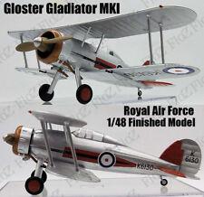 WWII UK RAF Gloster Gladiator MK I finished aircraft 1/48 Easy model plane