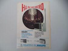 advertising Pubblicità 1967 RADIO PHILIPS RL 260/RL 360/RL 362