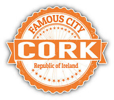"Cork City Ireland Grunge Travel Stamp Car Bumper Sticker Decal 5"" x 4"""
