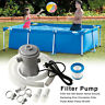 300GAL Clear Cartridge Filter Pump For Above Ground Pools Electric Swimming Pool