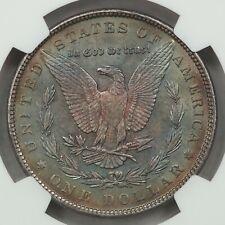 1898 Morgan Silver Dollar, NGC MS64, Gorgeous Rainbow Toned Reverse!