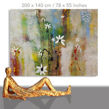 FLOWER PAINTINGS # FLORAL ART WALL DESIGN CANVAS DECOR FLORAL POWER * 78 x 55