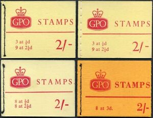 1963-65 QEII Wilding 2/- Booklets For Holiday Resorts (Set) NR1, NR1a, NR2, NX1