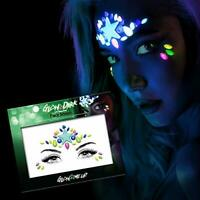 Glow in the Dark Face Gems Jewels Stickers Halloween temporary tattoo face gems