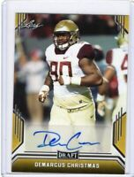 2019 Leaf Draft Gold Parallel Demarcus Christmas Auto RC BA-DC1 FSU - Seattle