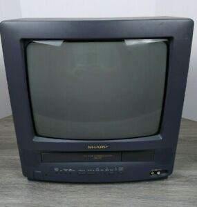 "Vintage Sharp 13"" TV VCR Combo 13VT-K100 CRT Retro Gaming"