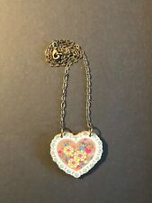 """Mama's Little Babies  2 pc heart necklace 18"""""""