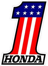 "#515 3.5"" Honda #1 Vintage superbike sponsor decal racebike race vinyl CBR CB"