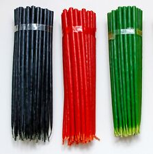 Beeswax candles 50 red 50 black 50 green