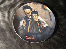 """Vintage Norman Rockwell Ltd Edition """"The Music Maker"""" Collector Plate by Knowles"""