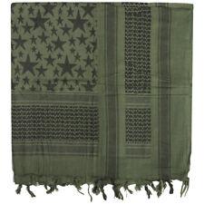 Mil-tec Shemagh Sciarpa Stars All'aperto Esercito Foulard Bandana oliva / Nero