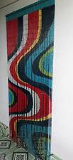 Beaded Bamboo Curtains Decor Panel Drape Window  Dividers Wall Art Color Wave